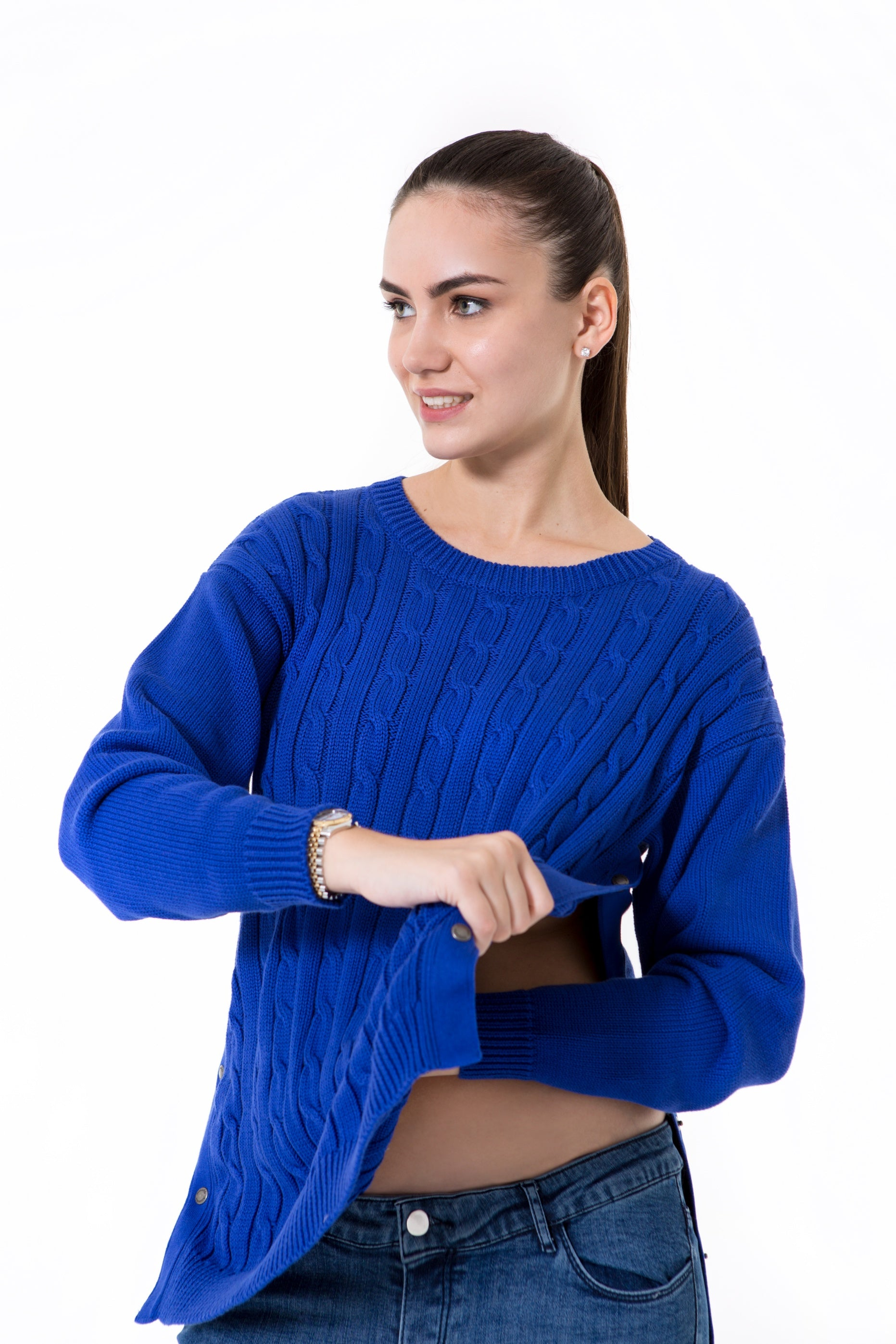 Accouchee Cozy Strike Knitwear Blue