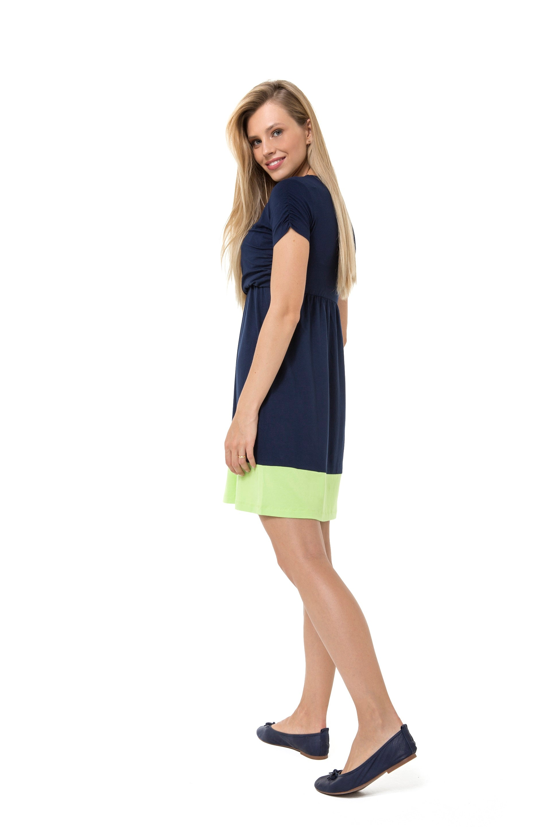 Accouchee Highlight Dress Navy Blue