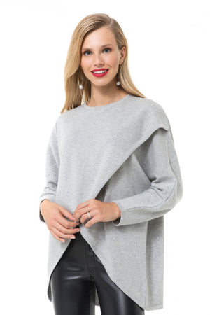Accouchee Let Loose Grey Knitwear 04