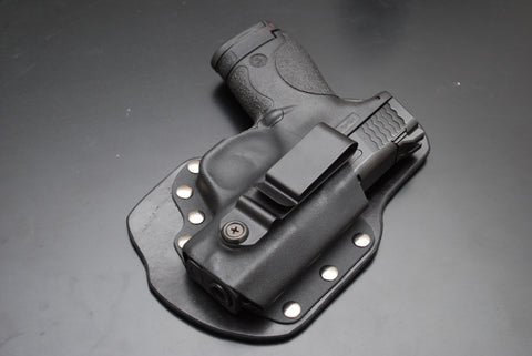 Shield 9 and 40 Single Point Carry Black Leather Holster