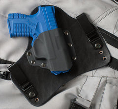 XDS gun holster with Black leather