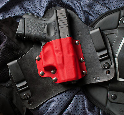 Glock 26 27 33 Black Widow Red Kydex Holster