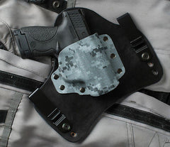 S&W Shield Ice Digital Camouflage Kydex Black Leather