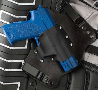 H&K USP 45 Black Leather Kydex