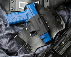 XDM gun holster with Black leather