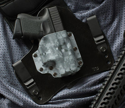Glock 26 27 33 Ice Grey Digital Camouflage Kydex Holster