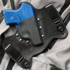 Ruger LCP IWB Black Leather Gun Holster