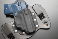 Sig Sauer P938 with Crimson Trace Laser Black Leather Holster