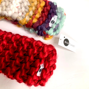 Red Hand Knit Scarf