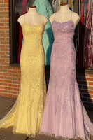 Mermaid Prom Dresses with Applique and Beading Long Prom Dress Fashion School Dance Dress Winter Formal Dress PDP0642