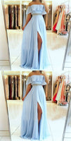 Off Shoulder Long Prom Dress With Beading, Popular Evening Dress ,Fashion Winter Formal Dress PDP0014
