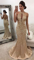Open Back Mermaid Long Prom Dress with Beading,Fashion Dance Dress,Sweet 16 Dress PDP0225