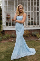 2020 Mermaid Prom Dresses with Applique and Beading, Long Prom Dress ,Fashion School Dance Dress Formal Dress PDP0684