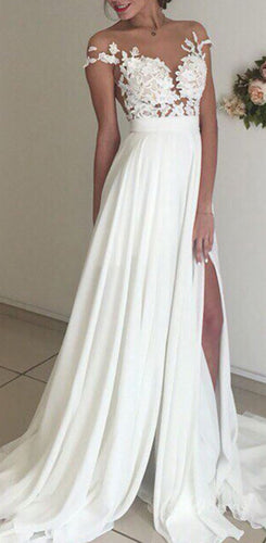 A-line Beach Wedding Dress ,Fashion Custom made Bridal Dress PDW003