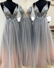 Load image into Gallery viewer, 2020 Long Prom Dresses with Beading 8th Graduation Dress School Dance Winter Formal Dress PDP0522
