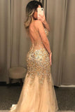 2020 Long Prom Dresses with Beading 8th Graduation Dress School Dance Winter Formal Dress PDP0487
