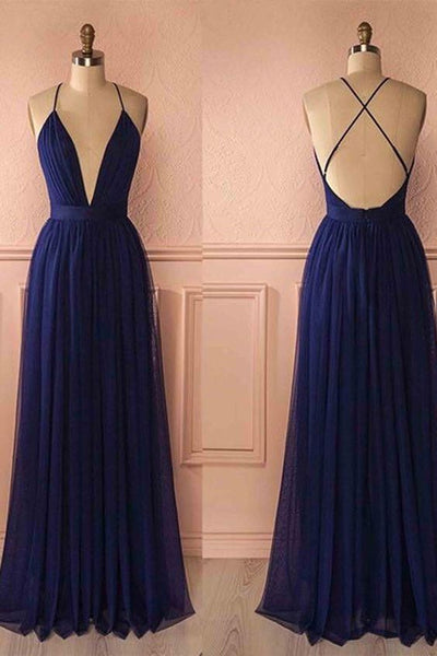Sexy Long Prom Dress Deep V-neck,Fashion School Dance Dress,Winter Formal Dress PDP0347