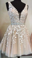 Homecoming Dress With Applique and Beading, Popular Short Prom Dress ,Fashion Dancel Dress PDH0020