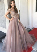Off Shoulder Long Prom Dress with Beading,Fashion Dance Dress,Sweet 16 Dress PDP0229