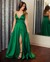 Sexy Long Prom Dress with Slit,Fashion Dance Dress,Wedding Party Dress,Formal Dress PDP0184