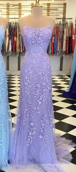 Mermaid Tulle Long Prom Dresses with Applique and Beading PDP0464