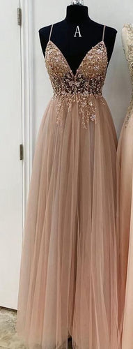 A-line Long Prom Dress with Beading, Popular Evening Dress ,Fashion Winter Formal Dress PDP0018