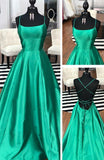 Simple Long Prom Dresses with Lace up Back 8th Graduation Dress School Dance Winter Formal Dress PDP0499