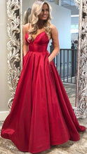 Load image into Gallery viewer, Long Prom Dress V-neck, Popular Sweet 16 Dance Dress ,Fashion Wedding Party Dress PDP0058