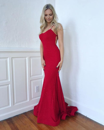 Mermaid Long Prom Dresses  Winter Formal Dresses,Evening Dresses PPS156