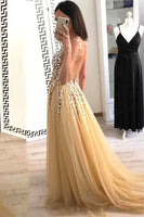 2020 Open Back Beading Long Prom Dresses 8th Graduation Dress School Dance Winter Formal Dress PDP0531