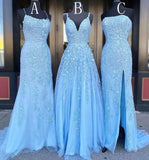 Grad Dresses Long with Applique and Beading, Prom Dresses Long ,School Dance Dress,Formal Dress PDP0733
