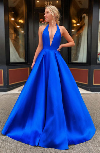 Deep V-neck Sexy Long Prom Dresses Winter Formal Dresses,Evening Dresses PPS134