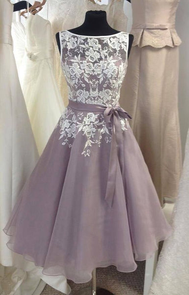 Short Homecoming Dress,Short Bridesmaid Dress PDB015