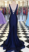 Mermaid Long Prom Dress with Deep V-neck, Popular Dance Dress ,Fashion Wedding Party Dress PDP0056