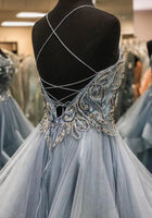 Beading Long Prom Dress with Lace up Back, Popular Evening Dress ,Fashion Wedding Party Dress PDP0075