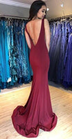Open Back Mermaid Long Prom Dress, Popular Evening Dress ,Fashion Wedding Party Dress PDP0066