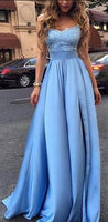 A-line Long Prom Dress with Applique,Fashion Dance Dress,Sweet 16 Dress PDP0199