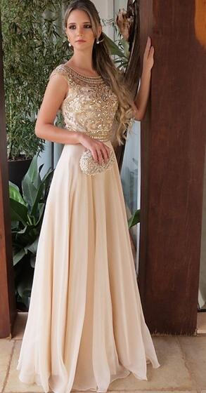 V Back A-line Long Prom Dress with Beading,Fashion Dance Dress,Sweet 16 Dress PDP0231