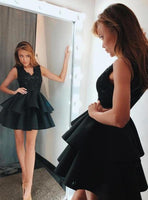V-neck Homecoming Dress With Applique and Beading, Popular Short Prom Dress ,Fashion Dancel Dress PDH0014