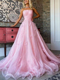 Strapless Long Prom Dress ,Fashion Dance Dress,Sweet 16 Quinceanera Dress PDP0275
