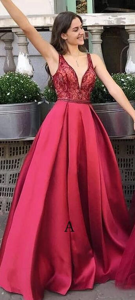 Long Prom Dress with Beading,Fashion Dance Dress,Sweet 16 Quinceanera Dress PDP0302