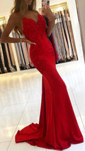 Load image into Gallery viewer, Sexy Mermaid Long Prom Dress with Applique and Beading,Fashion Dance Dress,Winter Formal Dress PDP0321