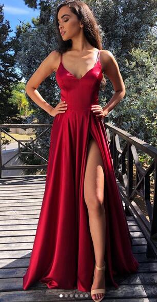 Sexy Long Prom Dress with Lace up Back,Fashion Dance Dress,Winter Formal Dress PDP0324