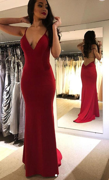 Sexy Mermaid Long Prom Dresses Open Back,Fashion School Dance Dress,Winter Formal Dress PDP0341