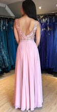 Load image into Gallery viewer, Prom Dresses with Applique and Beading Long Prom Dress 8th Graduation Dress Formal Dress PDP0553