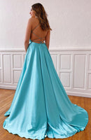 Prom Dresses with Lace up Back Simple Long Prom Dress 8th Graduation Dress Formal Dress PDP0546