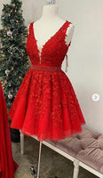 Homecoming Dress With Applique and Beading, Popular Short Prom Dress ,Fashion Dancel Dress PDH0021