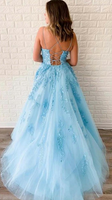 2020 Long Prom Dresses with Applique and Beading 8th Graduation Dress School Dance Winter Formal Dress PDP0507