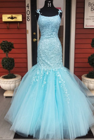 Mermaid Prom Dress with Applique and Beading Long Prom Dresses 8th Graduation Dress Formal Dress PDP0568