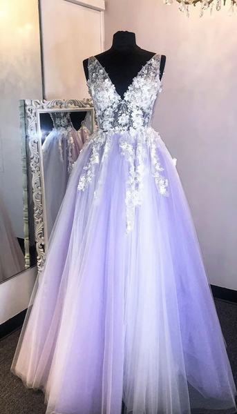 2020 Prom Dresses with Applique and Beading Long Prom Dress Fashion School Dance Dress Winter Formal Dress PDP0644